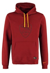 Nike Performance As Roma Sweatshirt Team Red Night Maroon Kumquat