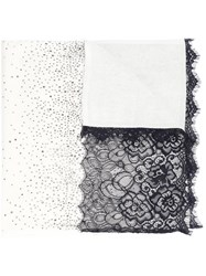 Magaschoni Floral Lace Scarf Nude Neutrals