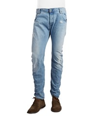 G Star Distressed Slim Jeans Light Aged