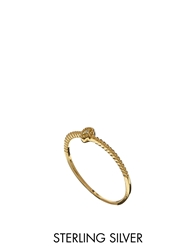 Asos Gold Plated Sterling Silver November Birthstone Ring Yellow
