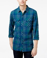 Tavik Men's Long Sleeve Vincent Plaid Shirt Blue