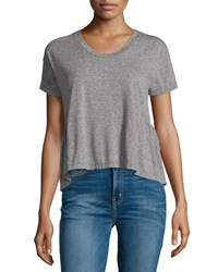 Current Elliott The Girlfriend Short Sleeve Tee Heather Gray Size 0