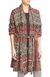 Women's Free People 'Iona' Long Belted Cardigan