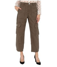Marc By Marc Jacobs Cotton Twill Cargo Pants Sully Green Women's Casual Pants Brown