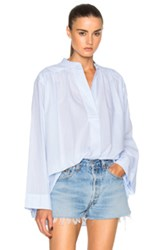 Helmut Lang Front Seam Detail Top In Blue