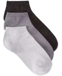 Hanes Women's Comfort Soft Crew Low Cut Socks 3 Pack Grey
