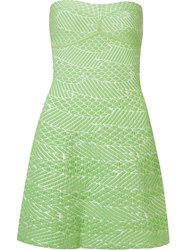 Gig Strapless Knit Dress Green