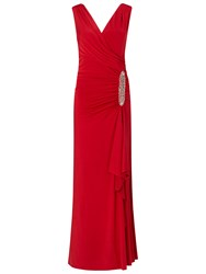 Ariella Celina Jersey Long Dress With Trim Red