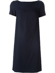 Borbonese Shift Dress Blue