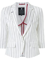 Loveless Striped Blazer White