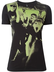 Versus Photo Print T Shirt Black