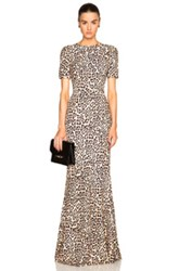 Givenchy Leopard Gown In Animal Print Neutrals