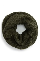 Women's Vince Camuto 'Thick Thin' Knit Infinity Scarf Green Deep Olive