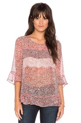 Bcbgeneration Multi Tiered Top Pink