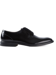 Green George Formal Derby Shoes Black