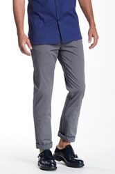Bedford Park Five Pocket Two Tone Twill Pant Gray
