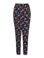Yumi Floral Trousers Black