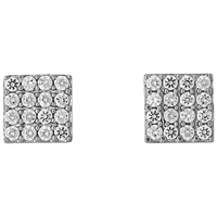 Jools By Jenny Brown Square Pave Set Stud Earrings