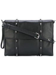 Borbonese Flap Shoulder Bag Black