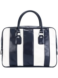 Comme Des Garcons Striped Tote Bag Blue