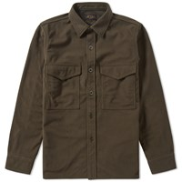 Beams Plus Fleece Overshirt Green