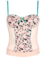 Blugirl Underwear Floral Printed Jersey And Tulle Bustier