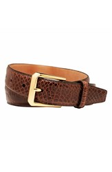 Men's Trafalgar Alligator Leather Belt Chestnut