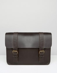 Asos Made In England Leather Satchel Brown