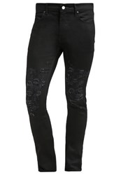 Religion Shredder Slim Fit Jeans True Black Black Denim