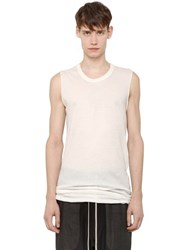 Rick Owens Cotton Jersey Sleeveless T Shirt