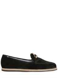 Charles Philip Changeable Pocket Square Suede Loafers