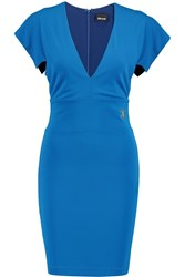 Just Cavalli Crepe Mini Dress Blue
