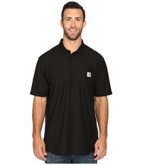Carhartt Big Tall Contractors Work Pocket Polo Black Men's T Shirt
