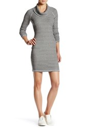 Three Dots Thermal Cowl Neck Bodycon Dress White