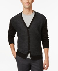 Ryan Seacrest Distinction Felted V Neck Cardigan Only At Macy's Black