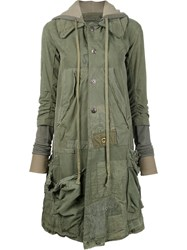 Greg Lauren 'Rogue Artist' Coat Green