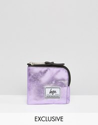Hype Exclusive Coin Purse In Metallic Baby Pink Pink