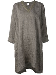 Dosa V Neck Tunic Dress Grey