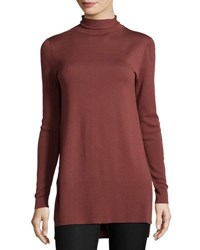 Lafayette 148 New York Funnel Neck Wool Tunic Date