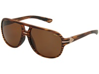 Zeal Optics Darby Polarized Matte Wood Grain W Copper Polarized Lens Sport Sunglasses Brown