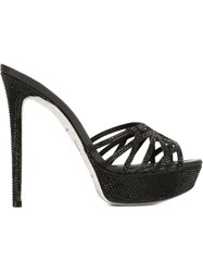 Rene Caovilla Small Stones Sandals Black