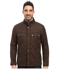 Rainforest Diamond Quilted Bomber Jacket Clay Men's Coat Tan