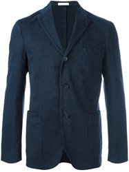 Boglioli Patch Pocket Blazer Jacket Blue