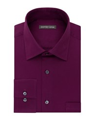 Geoffrey Beene Long Sleeve Point Collar Shirt Berry