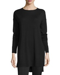 Joseph Side Slit Merino Tunic Black
