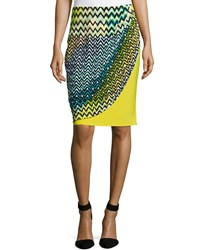 Josie Deco Wave And Dot Skirt Key Lime