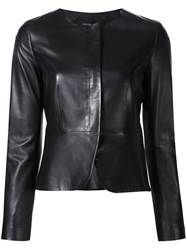 Derek Lam Collarless Fitted Jacket Black