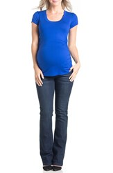Women's Lilac Clothing 'Hailey' Ruched Maternity Tee