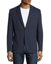 English Laundry Two Button Dotted Blazer Navy