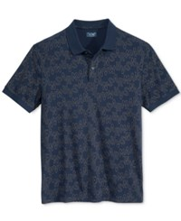 Armani Jeans Men's Graphic Print Polo Blue